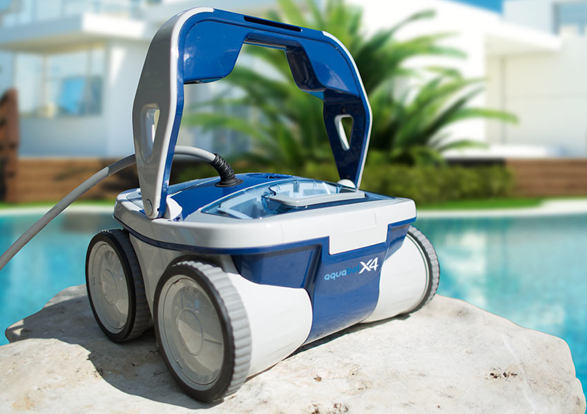 The Powerful New Aquabot X4 Robotic Pool Cleaner Poolbots