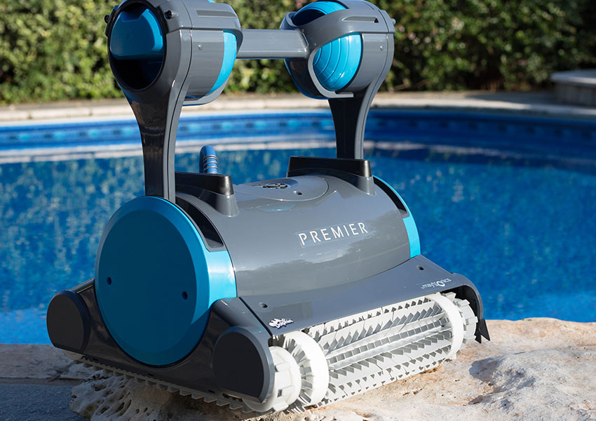 Dolphin Premier Robotic Pool Cleaner - Innovative Robotic Pool ...