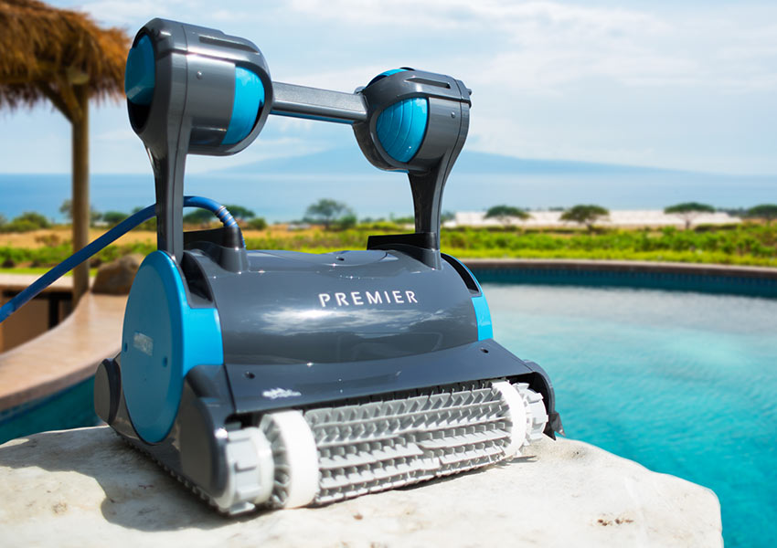 dolphin premier robotic pool cleaner innovative robotic. Black Bedroom Furniture Sets. Home Design Ideas